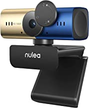 AutoFocus 1080p Webcam with Stereo Microphone, Privacy Cover, FHD USB Web Camera, 1080p/30fps Live Streaming Camera Compat...
