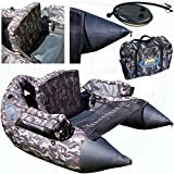 Lineaeffe Belly Boat XXL Camou con Borsa e Pompa
