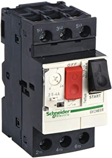 Schneider Electric Push Button Manual Motor Starter, No Enclosure, 2.5 to 4 Amps AC