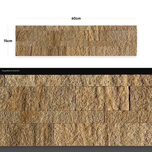 WANDVERKLEIDUNG AUS ECHTEM STEIN: Paneele aus Dünnschiefer   Wandverblender   Wandpaneele in Steinoptik (AS 2017)