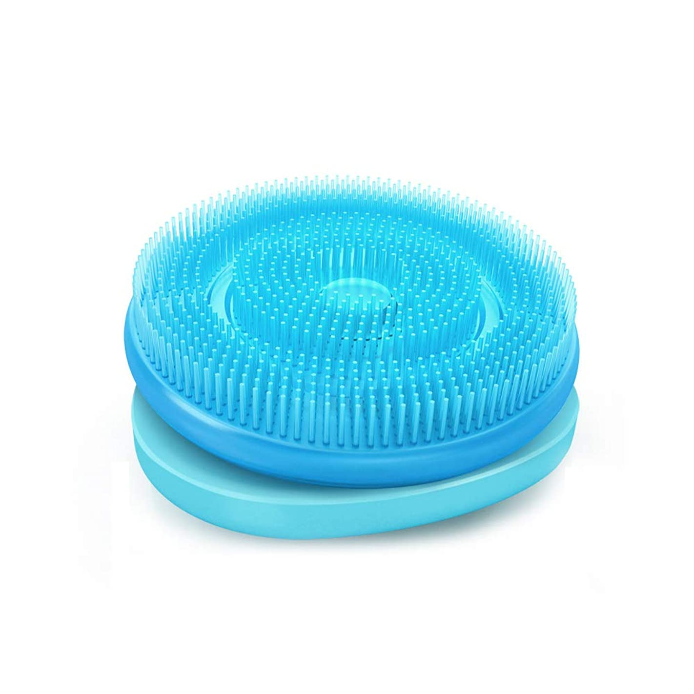 支援するお風呂偏心バスバックブラシ、シリコン回転ボディブラシ、角質除去のためのロングハンドル付きスキンマッサージ、セルライトを減らし、リンパ系を促進,Baby