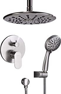 Shower System, Ceiling Shower Faucet Set for Bathroom with High Pressure 8