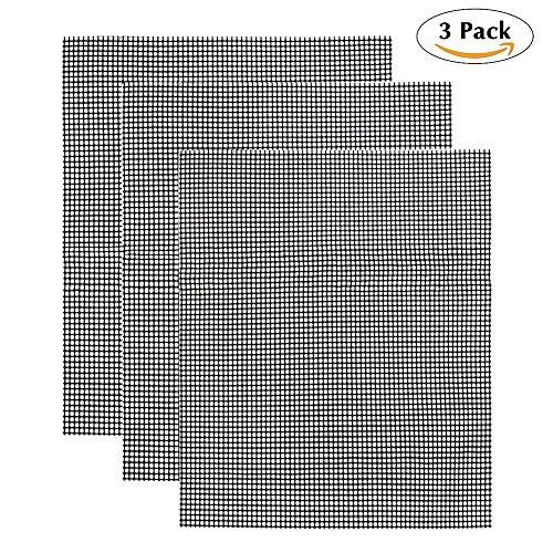 Grill Mesh, 3Pcs/Set Reusable BBQ Grilling Net | Non Stick Heat Resistant | Smoker BBQ Grill Mesh Mat | for Grilling…