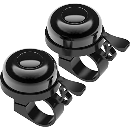 3 Packs Upgraded Version Bike Bells Crisp for Kids and Adults Cycling Ringing Bike Horn Loud Long Crisp Clear Sound Aluminum Alloy Bicycle Bells