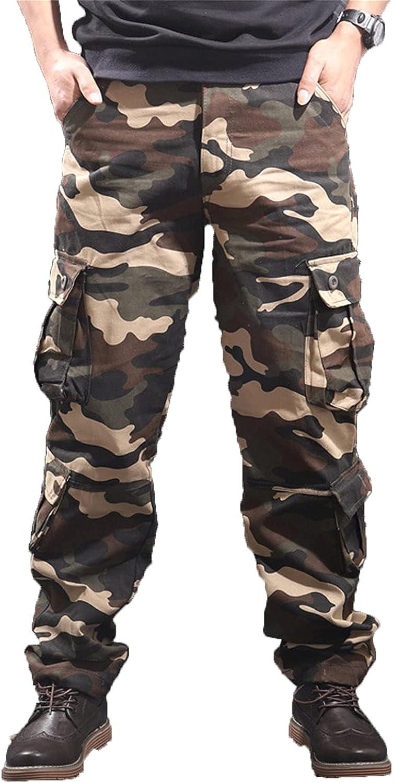 Men's Army Camo Combat Work Cargo Multi-Pocket Pants Cas Outdoor security Ranking TOP20