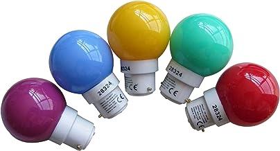 Tibelec 361910 Replacement Light Bulb B22 LED for Plastic Fairy Lights Set of 5, White, B22d, 0.5 wattsW 230 V