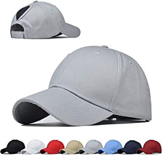 Adjustable Ponytail Top Hats for Women Baseball Caps Women Sports Hats Glitter Messy High Bun Baseball Hats Dad Hat