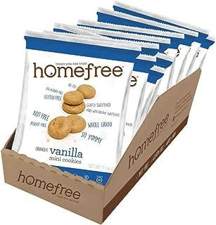 Home Free Organic Gluten Free Vanilla Mini Cookies, 1.1 Ounce - 10 per case.
