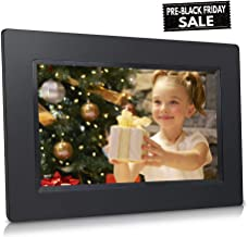 7-inch WiFi Cloud Digital Photo Frame w/Touch Panel, Increased 20GB Free Cloud Storage, High-Resolution, Registration Not Required, Freedom to use Online Apps and Local Storage
