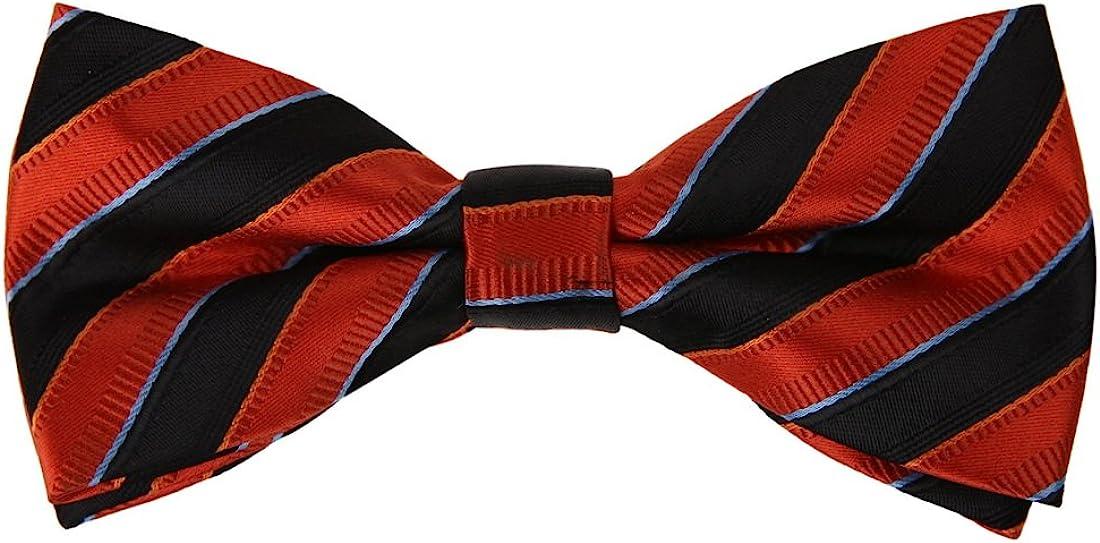 Epoint Men's Fashion Striped Bow Ties Silk Pre-tied Bow Tie