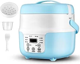 Rijstkoker (2L/400W) Huishoudelijke niet-Stick Rijstkoker, automatische warmtebehoud, met spatel en maatbeker, voor 1-4 pe...