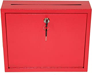 "AdirOffice Multi Purpose, Mailbox, Drop Box, Suggestion Box, Wall Mountable, 3"" x 10"" x 12"" - Red"
