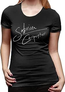 Sabrina Carpenter Logo Women's Basic Short Sleeve T-Shirt Black
