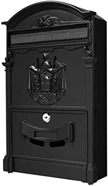 Vintage Mailbox Vertical Wall Mount | Mailbox for Post Retro Style Mailbox That Locks| Wall-Mount Mailbox on House or Office|