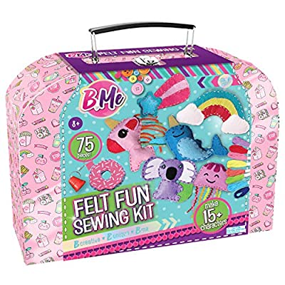 Felt Creative Arts and Craft Sewing Supplies Kit for Boys and Girl Ages 8+ Make Your Own 15+ DIY Characters - Educational Hand Sewing Box Set - Starter Beginner Sewing Kits – Gifts for Kids