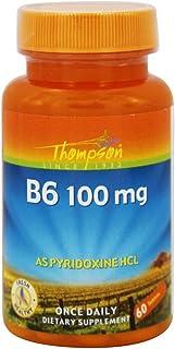 Thompson - Vitamin B6 Pyridoxine Hcl 100 Mg. 60 Tablets
