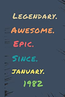 AWSOME Legendary Epic SINCE JANUARY 1982: 6x9 Journal, Casino Slot Machine Notebook, Lined Paper - 100 Pages, Gambling Las...