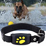 FHH GPS Dog Tracker Tracking Cat Collar Pet GPS Tracker Dog Cat Collar Water-Resistant GPS Callback Function USB Charging Trackers Location and Activity Tracker for Dogs with Unlimited Range