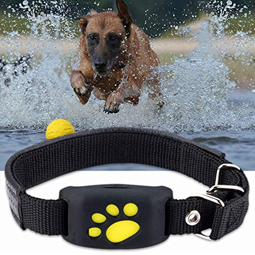 FHH GPS Dog Tracker Tracking Cat Collar Pet GPS Tracker Dog Cat Collar Water-Resistant GPS Callback Function USB Charging Trackers Location and Activity Tracker for Dogs with Unlimited Range.