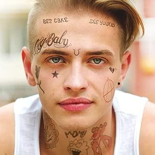Lil Peep Face Tattoo Set   Temporary Tattoos   Halloween Costume   Skin Safe