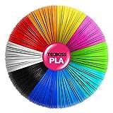 Tecboss 3D Pen/3D Printer Filament (10 Color 160ft 1.75mm Diameter PLA Filament for MYNT3D/Tecboss/Nulaxy 3D Pen etc, Bonus 250 Stencils eBooks