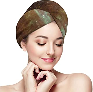 Quick Dry Hair Wrap Towels Turban,Dusty Nebula Spiral Galaxy In Billions Of Stars Infinity,Absorbent Shower Cap