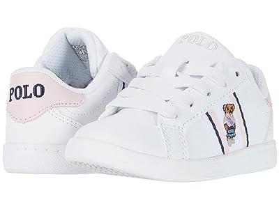 Polo Ralph Lauren Kids Oaklynn Bear (Toddler) (White Smooth/White/Light Pink/Navy/Sweater Vest Bear) Girl