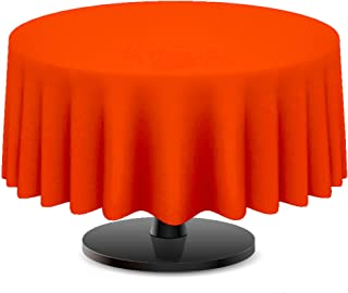 DecorRack Round Tablecloth -BPA- Free Plastic, 84 inch, Dining Table Cover Cloth Round for Parties, Picnic, Camping and Ou...