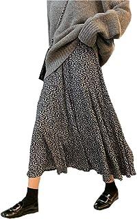 [YOUHA] [新色追加] ロングスカート マキシスカート 花柄 フレア マキシ ウエストゴム 裏地あり 体型カバー 大人 おしゃれ 韓国 ファッション レディ ース