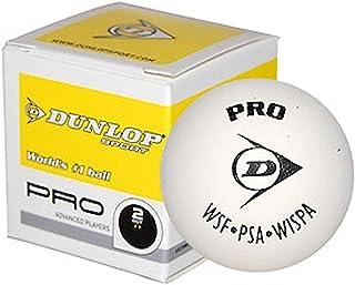 Dunlop Sports Pro Glass Court White Squash Ball