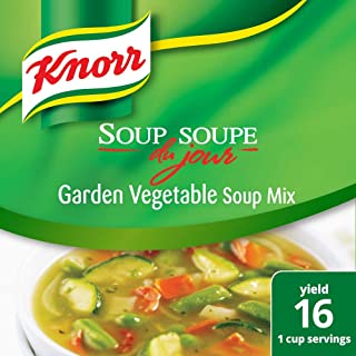 Knorr Professional Soup du Jour Garden Vegetable Soup Mix Vegetarian, Gluten Free, 0g Trans Fat per Serving, Just Add Water, 8.7 oz, Pack of 4