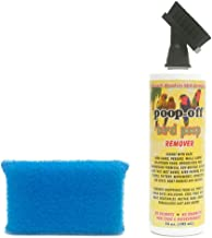Poop-Off Bird Poop Remover Brush Top 16-Ounce with Prevue Hendryx Cage Saver Scrub Pad Assorted Colors