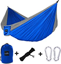 hopopower Camping Hammock Single /& Double with Tree Straps Portable Lightweight Breathable Nylon Parachute Hammock for Backpacking Camping Travel Beach Garden