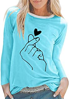 Womens Sweatshirts Round Neck Long Sleeve Basic Casual Tops Autumn Spring Daily Wear Lightweight Comfortable Blouses Print...
