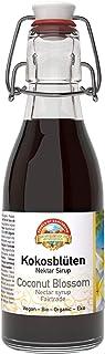 Biologische Fairtrade kokosbloesemsiroop 200ml BIO Max Havelaar, hersluitbare glazen fles, alternatief voor suiker, natuur...