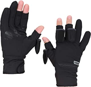 FRDM Convertible Fishing Gloves- Windproof Water Resistant Touchscreen Hiking Photography Outdoor Activities, Men & Women