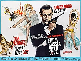 from Russia with Love - James Bond - 1964 - Movie Poster