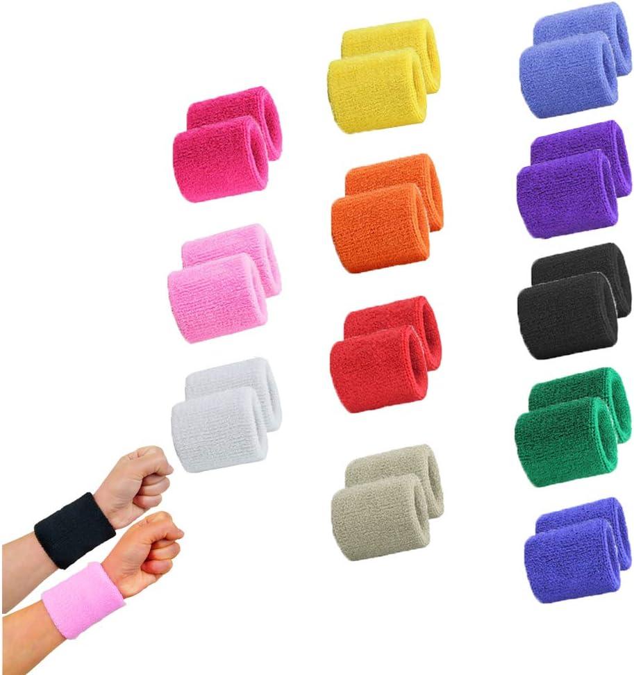 Sports Wrist /& Head Sweat Bands Wristbands Headbands Sweatbands Fitness S2L2