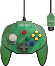Retro-Bit Tribute 64 Wired N64 Controller for Nintendo 64 - Original Port - (Forest Green)