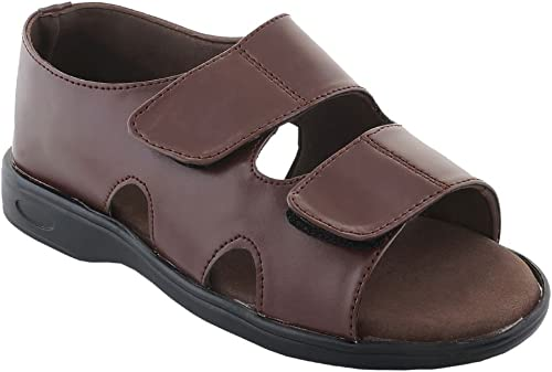 HEALTH FIT Healthfit Men s Diabetic Orthopedic with Extra Soft Comfortable Sandal