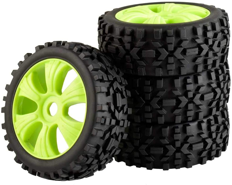 LAFEINA 4PCS Max 84% OFF 1:8 RC Tire and Plastic Set Rim Scale Brand new for 1 Wheel 8