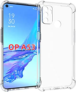 OPPO A53 Case, Ikwcase Transparent Soft Gel TPU Reinforced Corners Cushion Bumper Shockproof Drop Protection Case Cover fo...