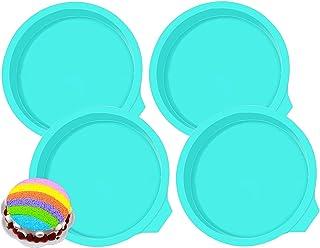 BETOY Molde de Silicona para Tartas Moldes Redondos 6 Pulgadas Antiadherente Quiche Molde Silicone Cake Molds para Hornear...