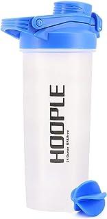 هوبل شيكر زجاجة خلط البروتين أكواب مسحوق خلط سموثي هز الخلط الخلط الخلط غلق فليب الأعلى زجاجة المياه الكرة - 680 جرام