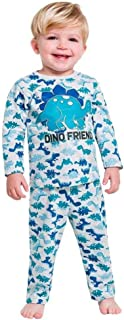 Pijama Infantil Menino Manga longa Cinza Dinossauro kyly