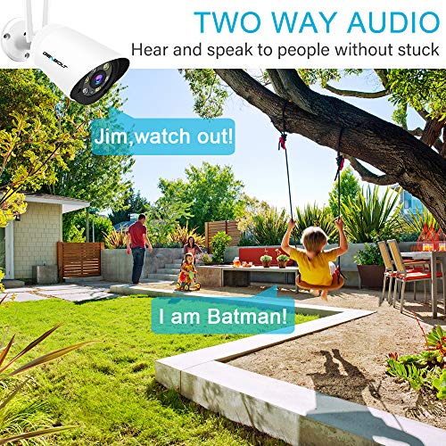 3MP Outdoor Security Camera - GENBOLT 1296P WiFi IP Surveillance Floodlight Camera Waterproof,2-Way Audio with 110° Super Wide View,Customizable Motion Detection,Dual Band WiFi (2.4 GHz and 5 GHz)