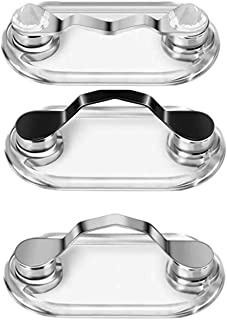 Magnetic Eyeglass Holder for Men & Women, Sunglasses, and Safety Glasses, Easy to Use Portable Eyewear Holder, Stainless Steel (Pack of 3)