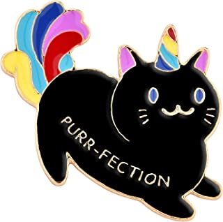 Avamie Purr-Fection Magical Cat Enamel Lapel Pin