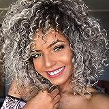 Pelucas de pelo rizado para mujer negra pelo gris natural para mujeres negras peluca rizada pelucas de pelo rizado rizado
