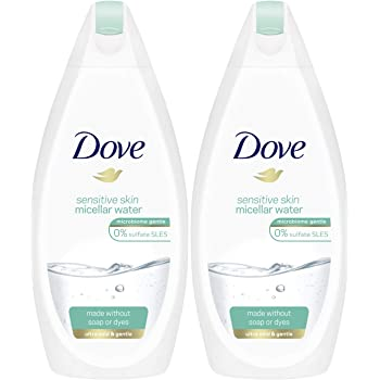 Amazon Com Dove Sensitive Skin Micellar Water Body Wash 16 9 Ounce 500 Ml Pack Of 2 International Version Beauty